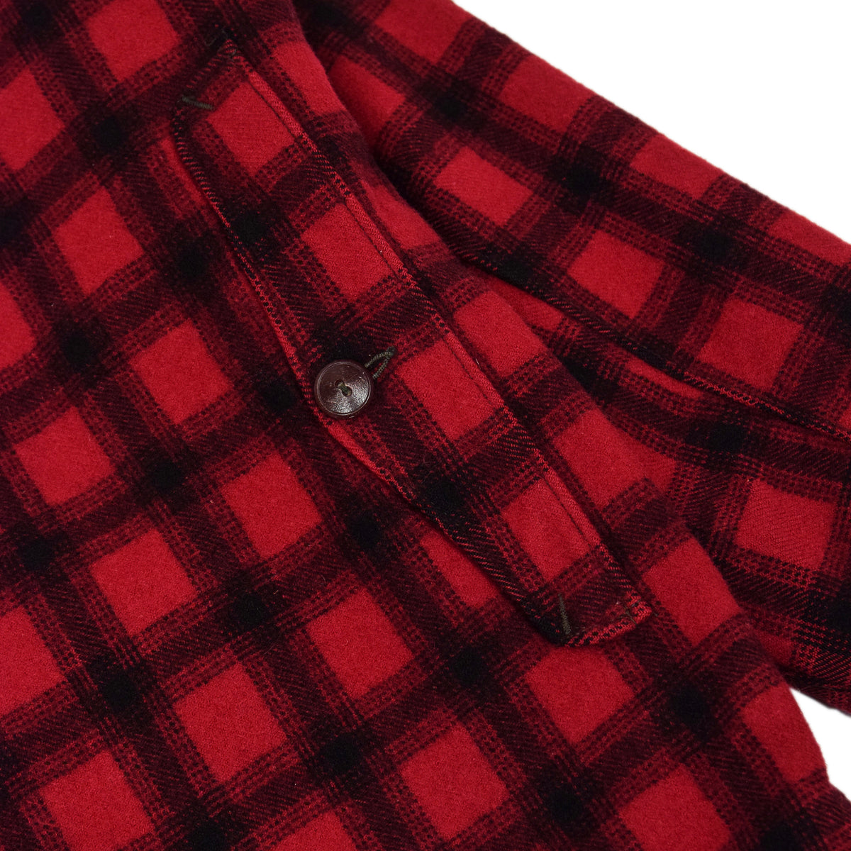 Vintage 70s Woolrich Woolen Mills Buffalo Plaid Mackinaw Hunting Jacket M back pocket