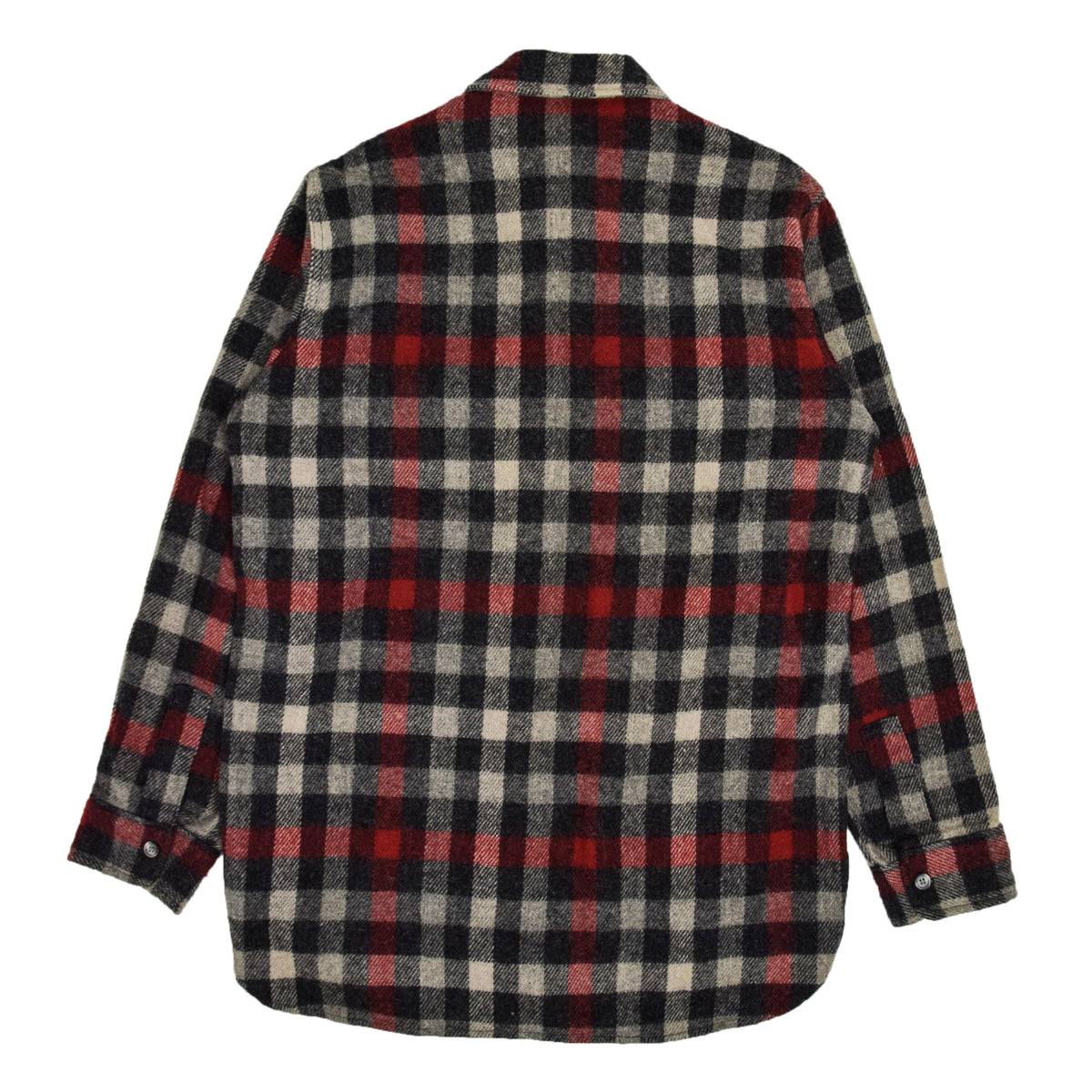 Vintage Woolrich Washed Check Long Sleeve Cotton Shirt Made in USA L BACK