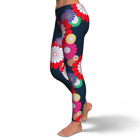 Kiku Floral Pattern Equil Leggings - Womens