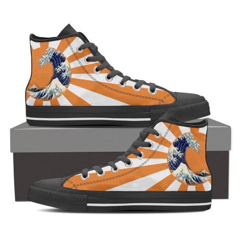 Great Waves of Rising Sun High Tops - Mens - Equil Streetwear