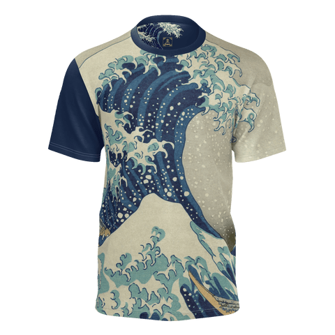 Hokusai Great Wave Equil T-Shirt - Mens
