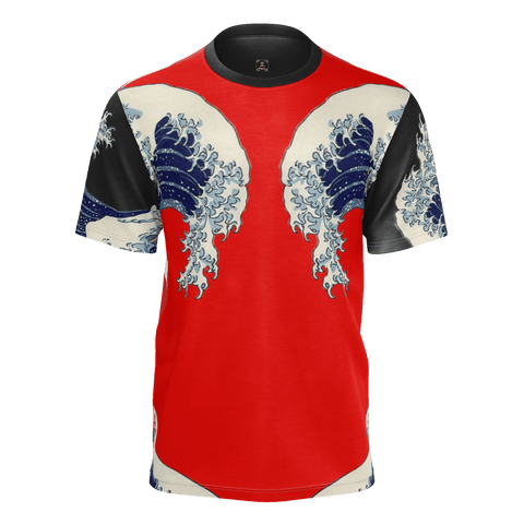 Great Waves of Rising Sun Equil T-Shirt - Mens