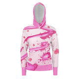 Sakura Swirl Equil Pullover Hoodie - Blossom Pink - Womens