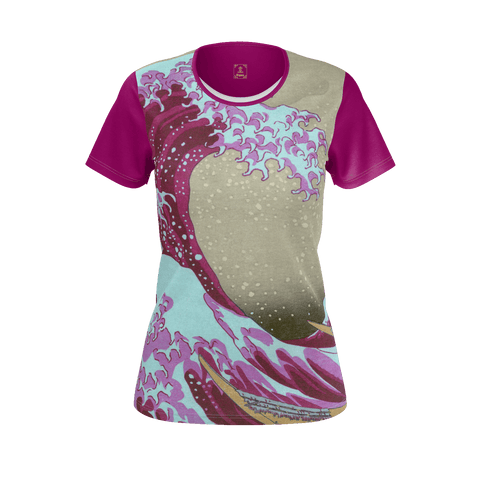 Pink Wave Off Kanagawa Equil T-Shirt - Womens