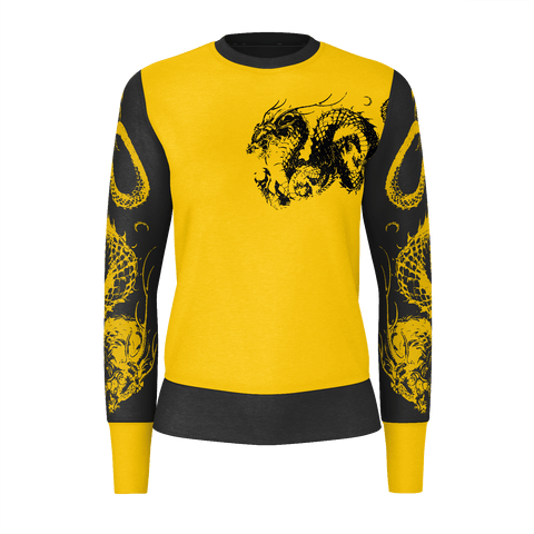 """龍"" Dragon Kanji Equil Sweater V2 - Womens"