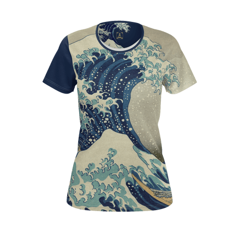 Hokusai Great Wave Equil T-Shirt - Womens