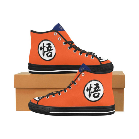 "Dragonball Goku's ""Go"" Kanji Equil High Tops - Womens - Equil Streetwear"