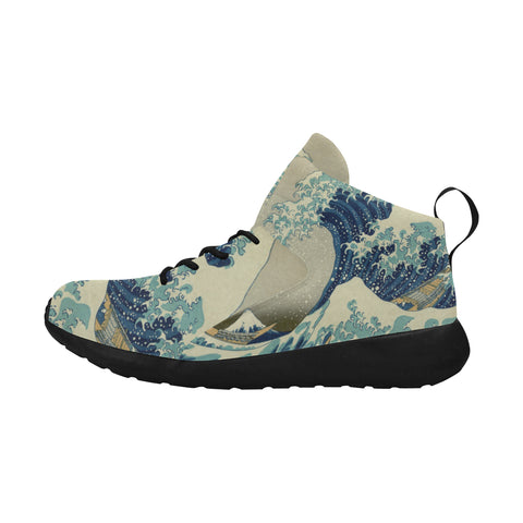 Hokusai Great Wave Sneakers - Womens