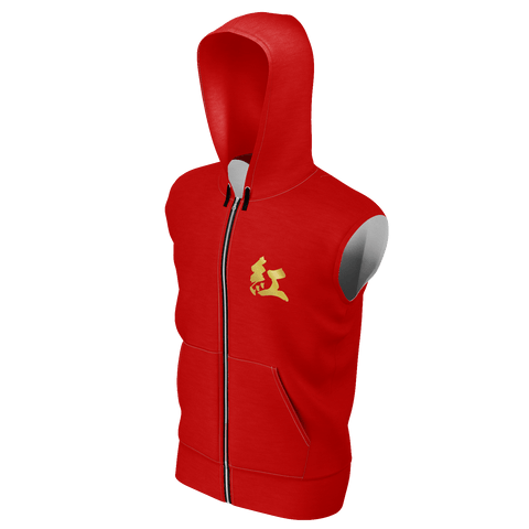 "Paul ""紅"" (Red) Kanji Equil Sleeveless Hoodie - Unisex"