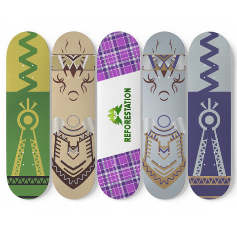 Julia Skateboard Wall Art (5 Boards) - Combo