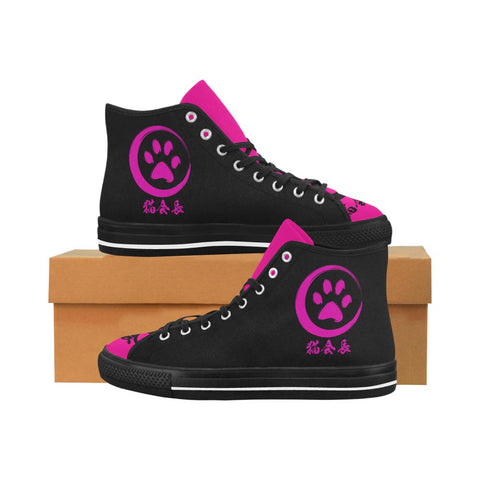 Neko Boss Equil High Tops - Black/Neon Pink - Womens