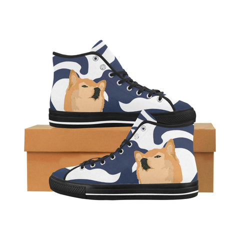 Confucius Shibe Equil High Tops V2 - Midnight Blue/Cherry Red - Womens