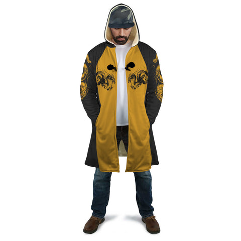 """龍"" Dragon Kanji Hooded Coat"