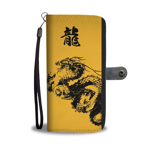"""龍"" Dragon Kanji Wallet Phone Case"