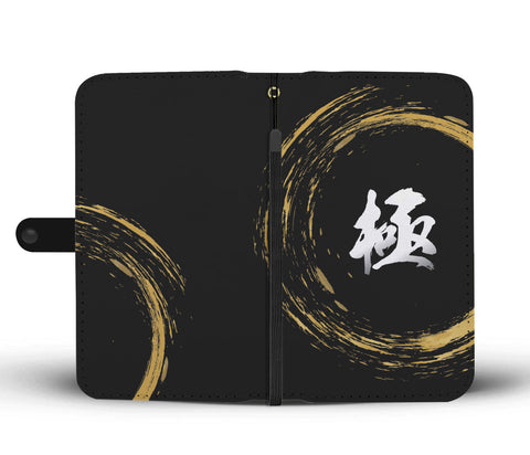 Kiwami Kanji Wallet Case - White/Gold