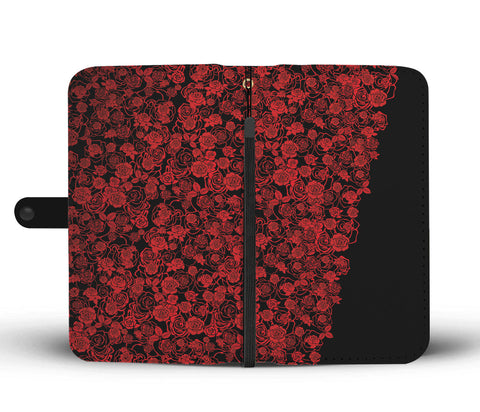 Lee's Excellent Wallet Phone Case - Red Roses