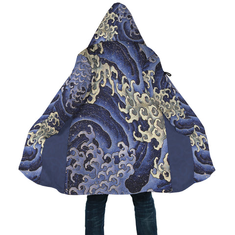 Waves of Hokusai Equil Hooded Coat