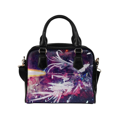 Wing Gundam Leather Shoulder Handbag - Front