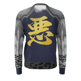 "Armor King ""悪""(Aku) Kanji Equil Sweater - Mens - Midnight Purple"
