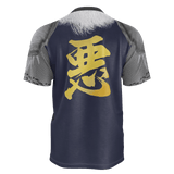 "Armor King ""悪""(Aku) Kanji Equil T-Shirt - Mens - Midnight Purple"