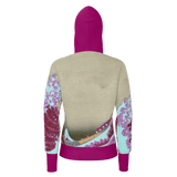 Pink Wave Off Kanagawa Equil Pullover Hoodie - Womens