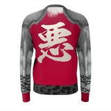 "Armor King ""悪""(Aku) Kanji Equil Sweater - Mens - Crimson Red"