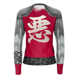 "Armor King ""悪""(Aku) Kanji Equil Sweater - Womens - Crimson Red"