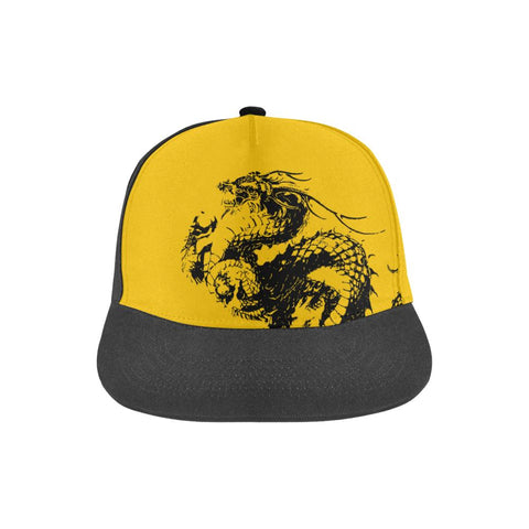 Dragon Kanji Hat - Yellow/Black