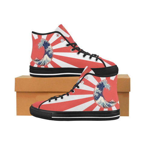 Great Waves of Rising Sun V2 Equil High Tops - Womens - Equil Streetwear