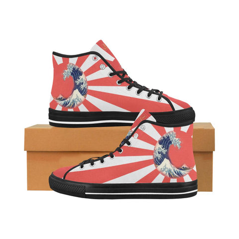 Great Waves of Rising Sun V2 Equil High Tops - Mens - Equil Streetwear