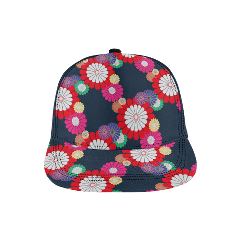 Kiku Floral Pattern All Over Print Hat