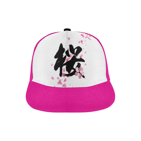 """桜"" Sakura Kanji All Over Print Hat - Pink"