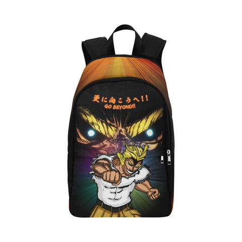 All Might Go Beyond Adults Backpack - Orange Front View