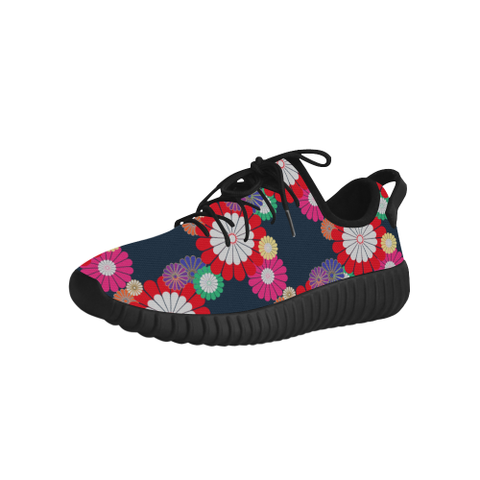 Kiku Floral Pattern Equil Running Shoes - Womens