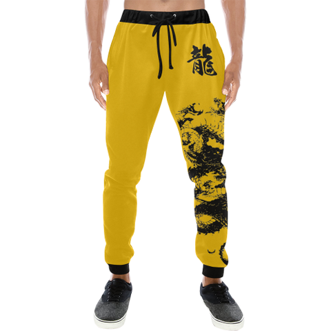 "Bruce Lee inspired ""龍"" Dragon Kanji Equil Sweatpants - Mens"