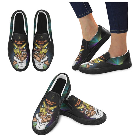 "All Might ""Go Beyond"" Slip Ons - Womens - Equil Streetwear"