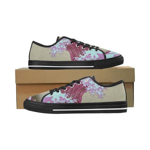 Pink Wave Off Kanagawa Equil Low Tops - Womens - Equil Streetwear