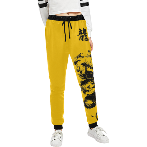 "Bruce Lee inspired ""龍"" Dragon Kanji Equil Sweatpants - Womens"