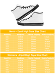Great Waves of Rising Sun V2 Equil High Tops - Womens
