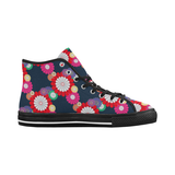 Kiku Floral Pattern Equil High Tops - Womens