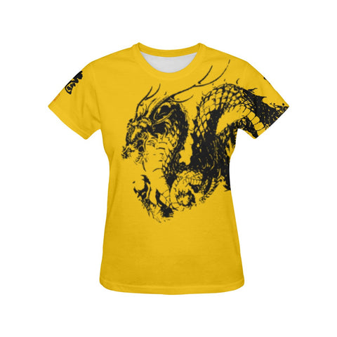 Ryu - Dragon Kanji All Over Print T-Shirt - Womens