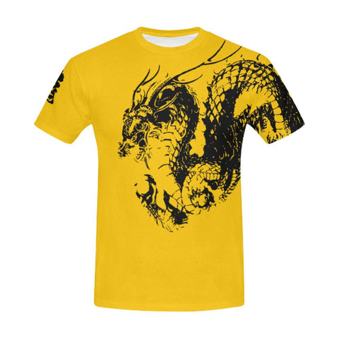 Ryu - Dragon Kanji All Over Print T-Shirt - Mens