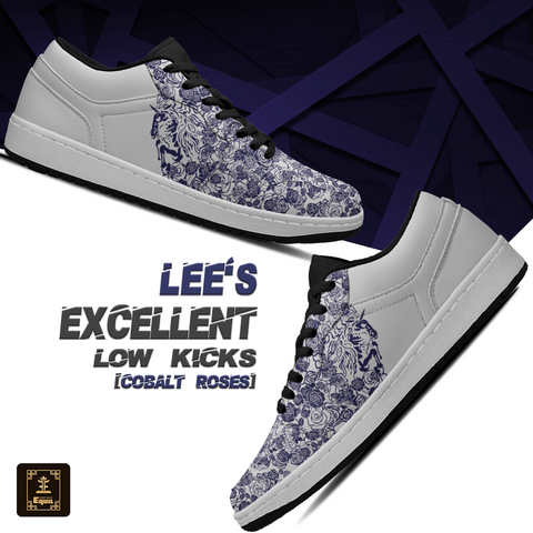 Lee's EXCELLENT Equil Low Kicks w/Unicorn [Cobalt Roses]