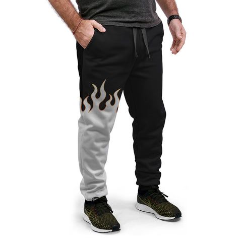 Jin T7 Flame Equil Joggers - White Flame