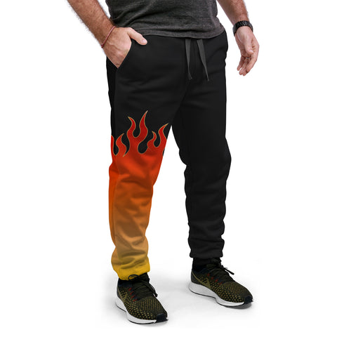 Jin T7 Flame Equil Joggers - Red Flame