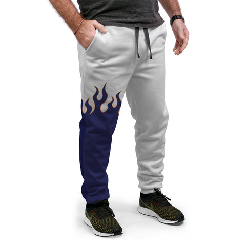 Jin T7 Flame Equil Joggers - Blue Flame