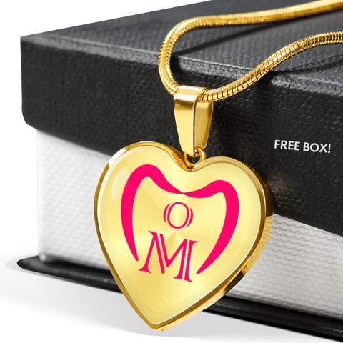 'Mom' Love Heart Luxury Necklace (Engraving Available)