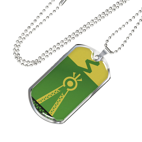 Julia MOTHER NATURE Dog Tag - Green (Engraving Available)
