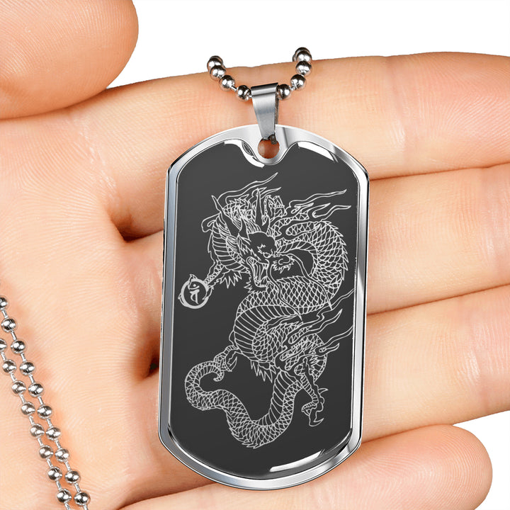 Dragon Ascended Dog Tag Gray Base Equil Streetwear