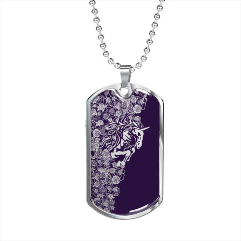 Violet's Excellent w/Unicorn Dog Tag